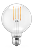 LEDone G25 Clear Lens Filament Bulb, 5.5 Watt, E26 Base, 120 Volt Dimmable, Replaces 60 Watt- View Product