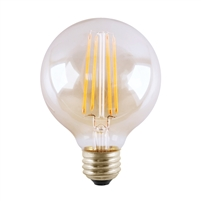 Halco Decorative G25 Globe Lamp, 5.5 Watt, E25 Base, Clear Lens, Dimmable-View Product