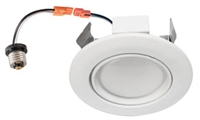 LEDone Adjustable Recessed Down Light, 4 Inch, 10 Watt, E26/GU24 Base, 3000K, Dimmable, Gimbal- View Product