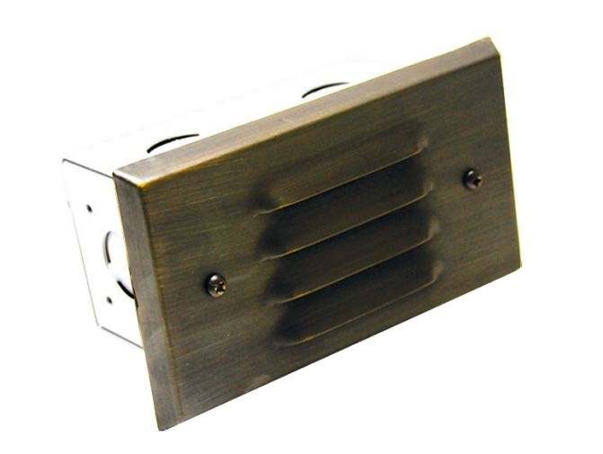 WestGate 12 Volt Step Light, Solid Brass Faceplate with Integrated LED SMD  Module, Bronze Finish, LS-161-BZ