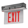 LED New York Approved, Recessed Edge Lit Exit Sign, Aluminum Housing- View Product