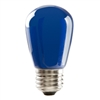 Halco S14 Blue Sign Lamp, 1.4 Watt, E26 Base, Non-Dimmable, IP65, Color Options Available-View Product