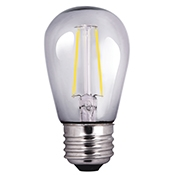 Halco S14 Filament Bulb, 2 Watt, E26 Base, 2700K, Clear Lens, Dimmable-View Product