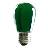 Halco S14 Green Sign Lamp, 1.4 Watt, E26 Base, Non-Dimmable, IP65, Color Options Available-View Product