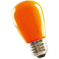 Halco S14 Orange Sign Lamp, 1.4 Watt, E26 Base, Non-Dimmable, IP65, Color Options Available-View Product