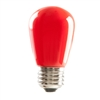 Halco S14 Red Sign Lamp, 1.4 Watt, E26 Base, Non-Dimmable, IP65, Color Options Available-View Product