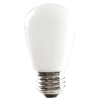 Halco S14 White Sign Lamp, 1.4 Watt, E26 Base, Non-Dimmable, IP65, Color Options Available-View Product
