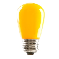 Halco S14 Yellow Sign Lamp, 1.4 Watt, E26 Base, Non-Dimmable, IP65, Color Options Available-View Product