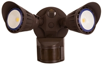 WestGate Security Lights, 20 Watt with PIR Sensor, 3000K, Bronze Finish- View Product