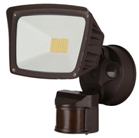 WestGate Security Lights, 28 Watt with PIR Sensor, 3000K, Bronze Finish- View Product