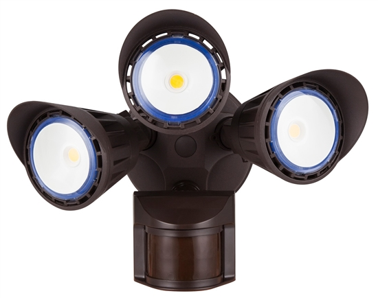 WestGate Security Lights, 30 Watt with PIR Sensor, 5000K, Bronze Finish- View Product
