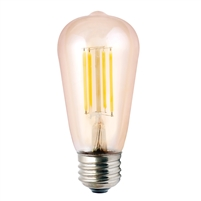 Halco ST19 Filament Bulb, 5.5 Watt, E26 Base, 2200K, Amber Lens, Dimmable-View Product