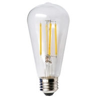 Halco ST19 Filament Bulb, 5.5 Watt, E26 Base, 2700K, Amber Lens, Dimmable-View Product