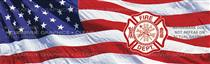 US Flag Maltese Cross Fire Fighter Rear Window Graphic