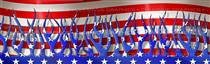 Patriotic Flames Rear Window Graphic