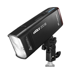 Flashpoint eVOLV 200 TTL Pocket Flash with Barndoor Kit Built-in R2 2.4GHz Radio Remote System (Godox AD200)