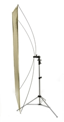 "35"" x 70"" Flat Panel Reflector w/Bkt and Stand"