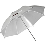 "45"" White Satin Umbrella"