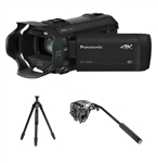 Panasonic HC-VX981K 4K Ultra HD Camcorder with Tripod Package