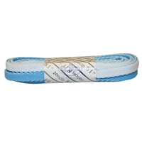 Double Carolina Blue & White Laces