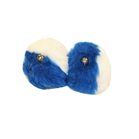 Royale Blue and White Pom-Poms