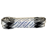 Athletic Black & White Plaid Laces