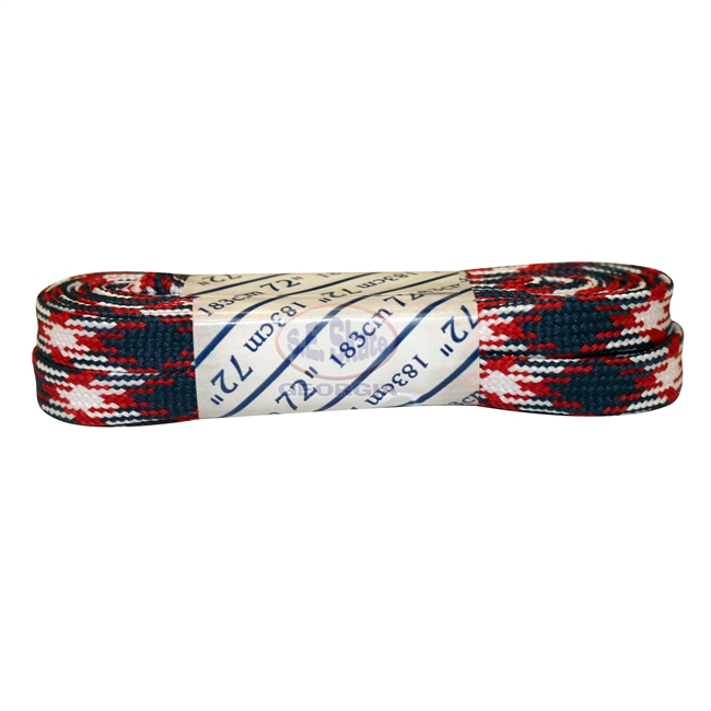 Athletic Red, White, & Black Plaid Laces