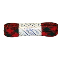 Athletic Red & Black Plaid Laces