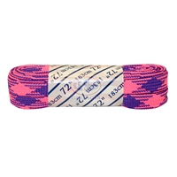 Athletic Pink & Purple Plaid Laces