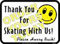 "Thank You For Skating With Us (12""x16"")"