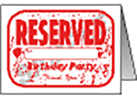 "Reserved Birthday With Custom Name Table Tent (6""x8"")"