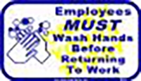 "Employees Must Wash Hands (6""x10"")"