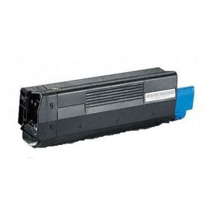 Premium Compatible Okidata 42127401 Yellow Laser Toner Cartridge