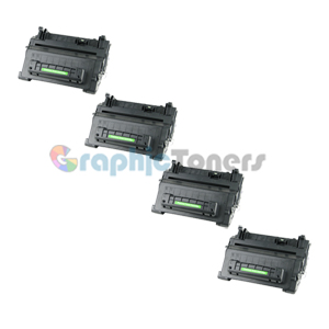 Premium Compatible HP CC364A (64A) Black Laser Toner Cartridge (Pack of 4)
