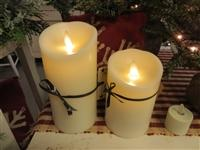 "3"" x 6"" Ivory Flameless Candle with Remote"