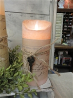 "7"" Vintage Cottage Flameless Candles"