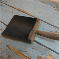 Treen Ware Wood & Metal Scoop.
