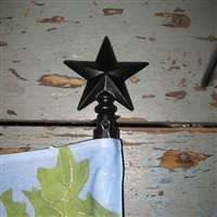 Black Star Large Standard Flag Pole