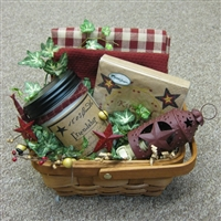 Farmhouse Primitive Gift Baskets By Color