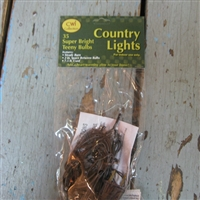 Brown Cord Mini Rice Lights 35 Strand