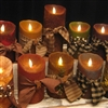 "5"" PRIMITIVE Flameless Candles Battery Operated"