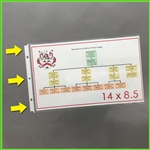 Legal Size Sheet Protectors Landscape for 14 x 8-1/2 documents