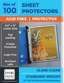 Clear Standard Sheet Protectors - Standard Medium Weight Sheet Protectors