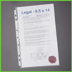 Legal Size Sheet Protectors for 3 Rings – 7 Hole Legal Sheet Protectors for 3 Ring Legal Binders
