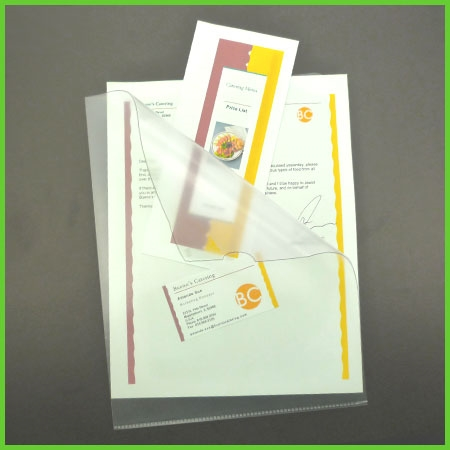 Clear Presentation Sleeves 8 5 x 11 letter size - 25/Pack