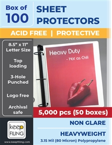 Low Reflective Heavyweight Sheet Protectors