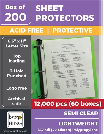 Light Weight Sheet Protectors