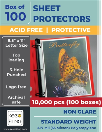 Low Reflective Standard Weight Sheet Protectors