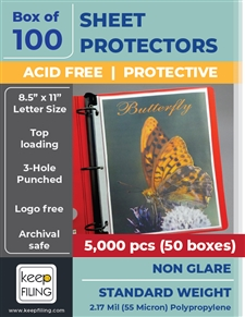Low Reflective Standard Page Protectors