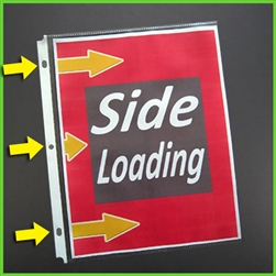 Side Loading Sheet Protectors - Secure Letter Size 8.5 x 11